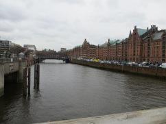Industrial part of Hamburg